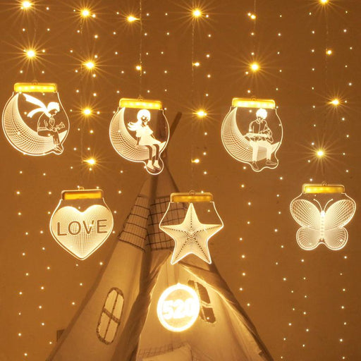 Fairy Star Twinkle Wedding Love Night Pumpkin Indoor Fancy Hanging Dangling Light