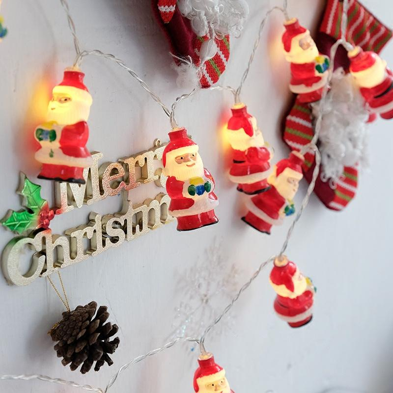 Christmas Warm Santa Outdoor Tree Snowflakes Decoration String LED Lights