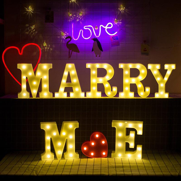 Fairy Letter Wedding Honey Love LED Letter Number Starring Twinkle Decorative Light