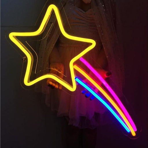 Good Night - Neon Star Sign For Home
