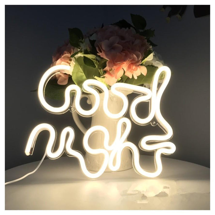 Good Night - Neon Sign For Bedroom