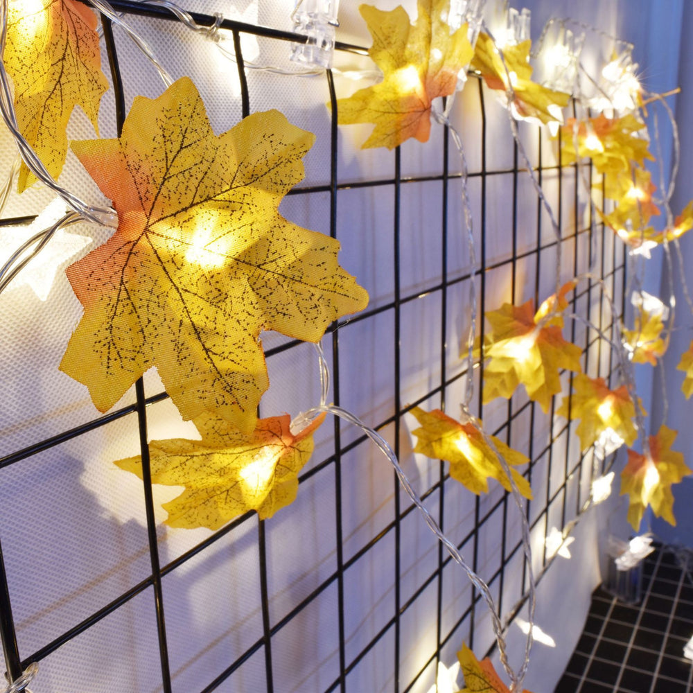 Fancy Fall Sleeves Indoor Bedroom Decorative String LED Battery Powered Mini Light