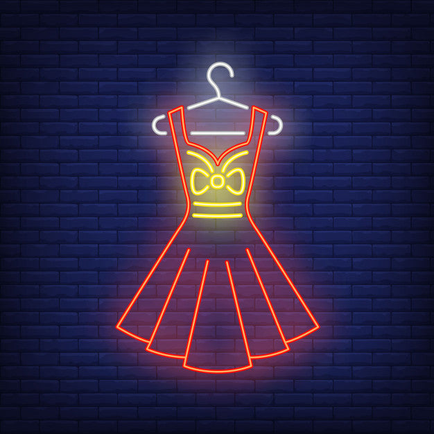 Dress on hanger neon sign Lights