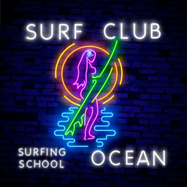 Glowing sign for surf club Neon Sign