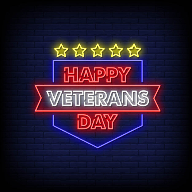 Happy veterans day neon signs
