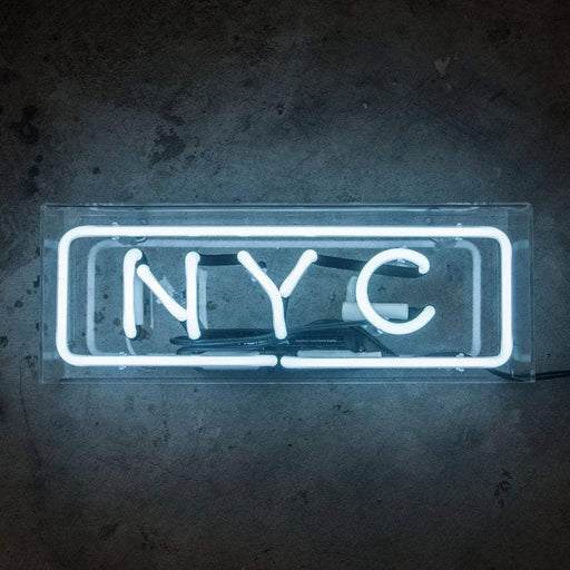 Neon Sign Nyc In Acrylic Box