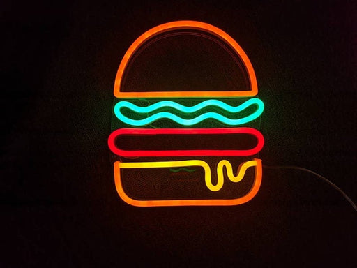 Burger LED Neon Sign