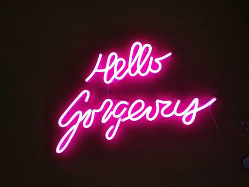 Hello Gorgeous | Led Neon Sign, Hello Gorgeous Art, Gorgeous, Quote, Gorgeous Wall Art, Hello Gorgeous Sign, Bride Party, Nail, Beauty Salon