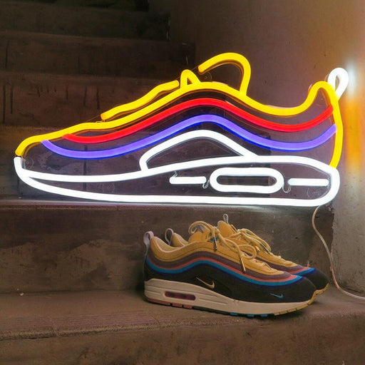 Air Max 1/97 Sean Wotherspoon | Led Neon Sign, Neon Sneakers, Colorful Sneaker, Neon Shoes, Gift, Sneakerhead, Neon Shoe