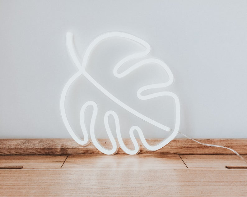 Monstera Leaf Led Neon Sign