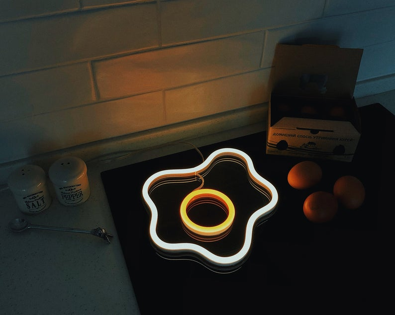 Fried Egg Led Neon Sign