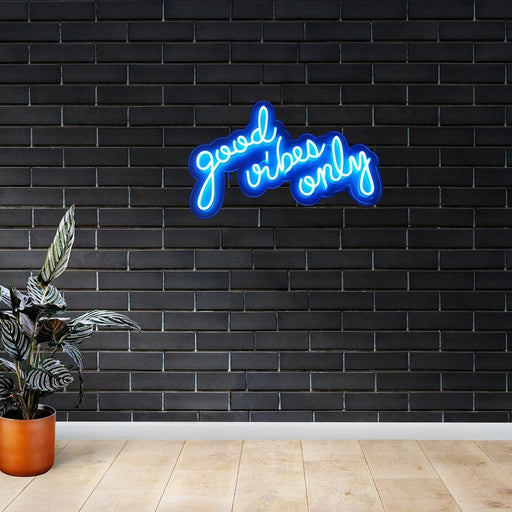 Good Vibes Only Neon | Home Decor Neon Sign | Office Neon Sign