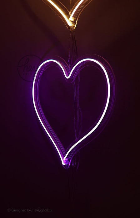 Set Of Hearts - Custom Led Neon Signs. Choose Your Color!