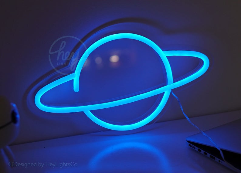 Planet - Custom Led Neon Sign. Choose Your Color!