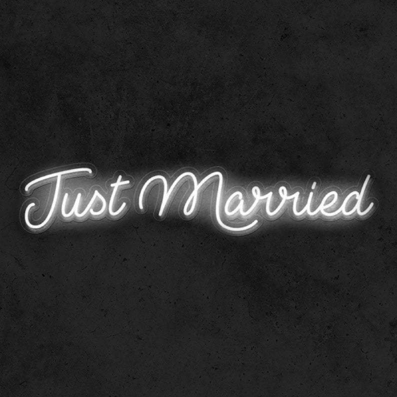 Just Married | Wedding Neon Sign - Just Married Gift, Just Married Gifts, Just Married Sign, Neon Just Married, Just Married Neon
