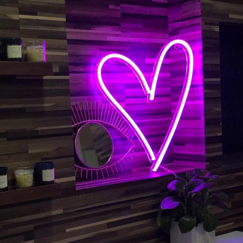 Heart | Led Neon Sign, Shaped, Pink Heart, Heart Sign, Heart Shape, Love Neon, Neon Love, Neon Love Sign, Love Neon Sign, Love Art
