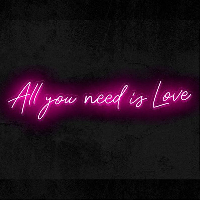 All You Need Is Love | Wedding Led Neon Sign, Love Gift, Best Love Gift, Unique Wedding Gift, Wedding Sign, Wedding Neon, Wedding Light