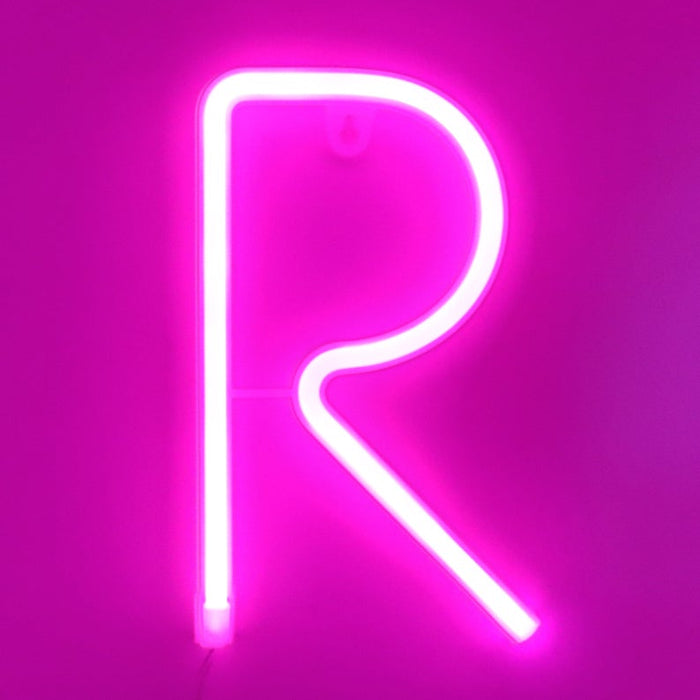 LED - Alphabets - Numbers - Letters - NEON - Kids - Wall Decor - Home Decor - Light - Neon Letters Numbers