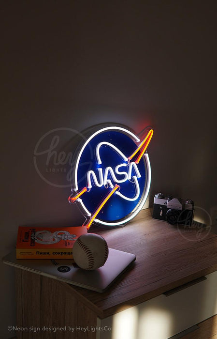 Nasa Logo Handcrafted Led Neon Sign | Amazing Unique Gift