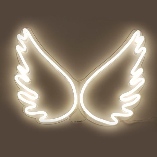 Wings | Led Neon Sign, Shaped, Wings Neon Sign, Neon Sign Wings, Event Party,