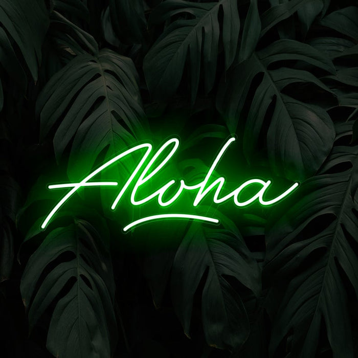 Aloha Neon Sign | Led Neon Sign, Hawaii Neon Sign, Neon Sign, Home Decor