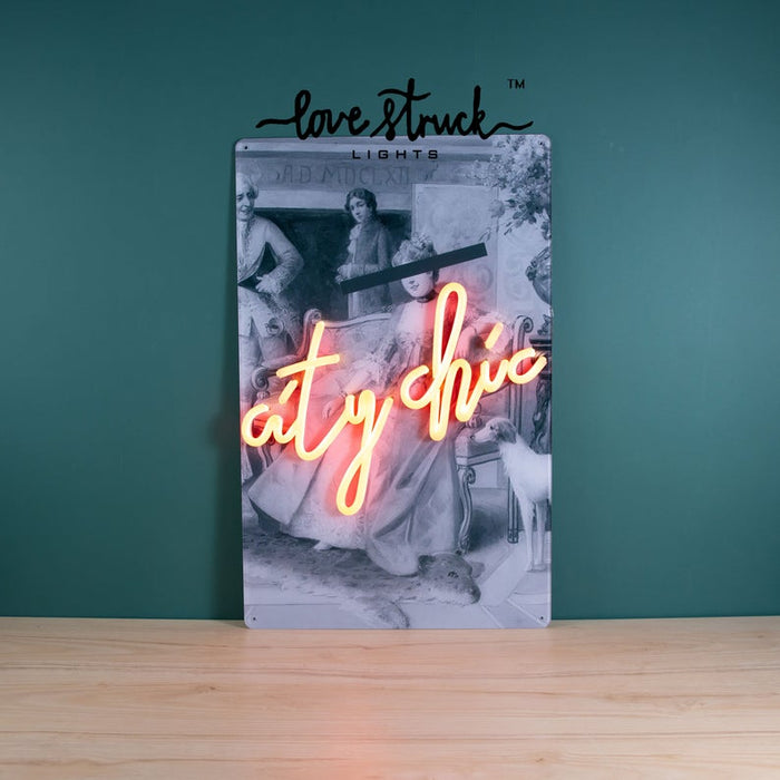 Led Neon Sign With Print, Neon Style Sign - 'Customised', Photo Neon Light, Neon Photo Light