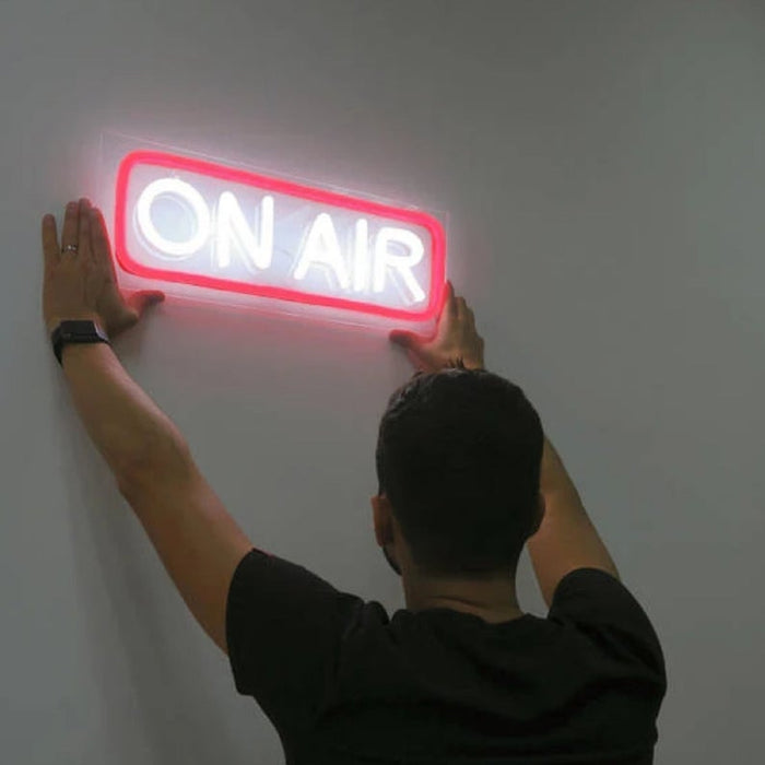 On Air | Led Neon Sign, Home Decor, On Air Light, On Air Sign, On Air Neon Sign, Neon Signs, Neon Sign, Studio Decor, Recording