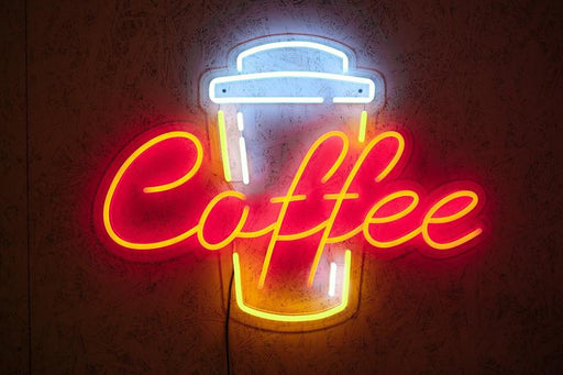 Coffee cup neon sign, coffee neon sign, coffee to go, coffeeshop, cafe, restaurant