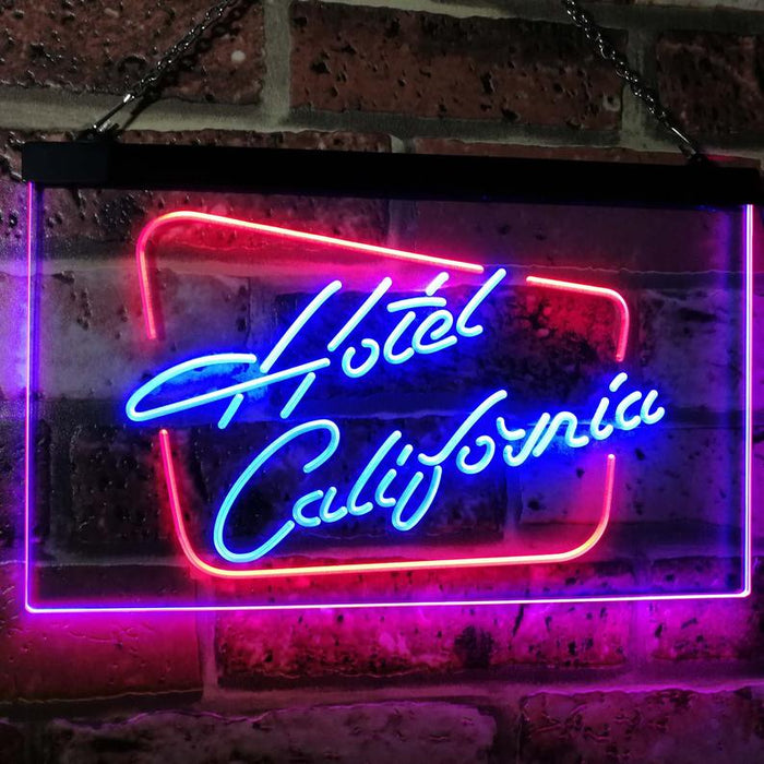 Hotel California Bar Club Room Beer Dual Color LED Neon Sign