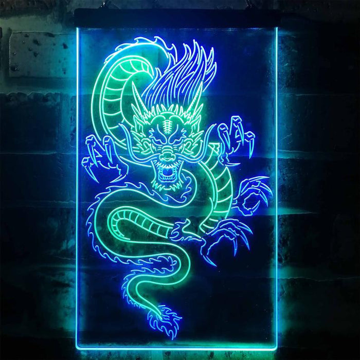 Chinese Dragon Room Display Dual Color LED Neon Sign