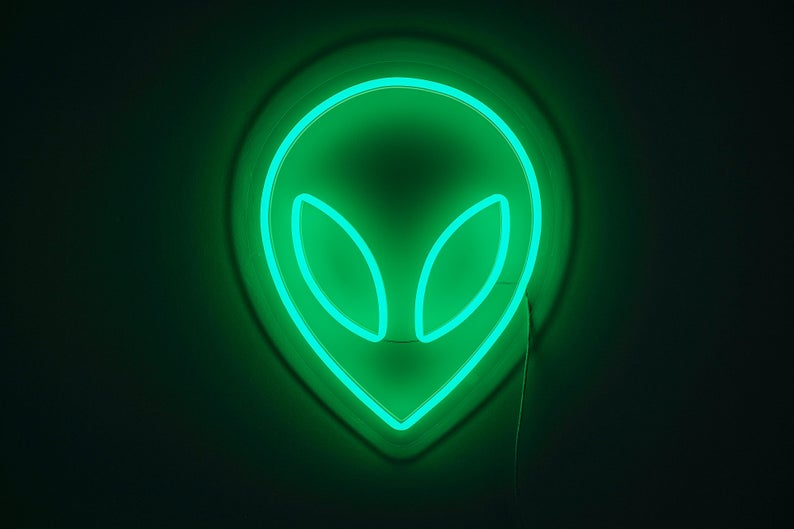 UFO neon sign alien custom color