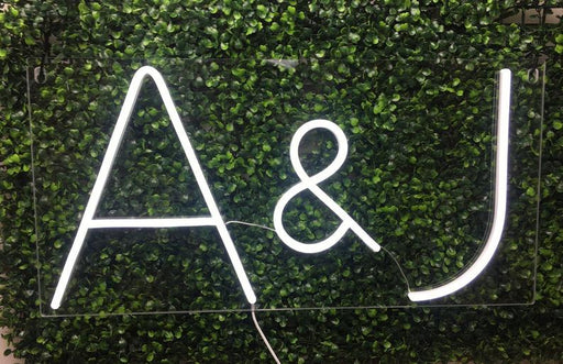 Lover Neon Sign A+B A&B Name Neon Sign Wedding Flex Led Neon Light Lover Custom Led Neon Sign Bridal Shower Engagement Party