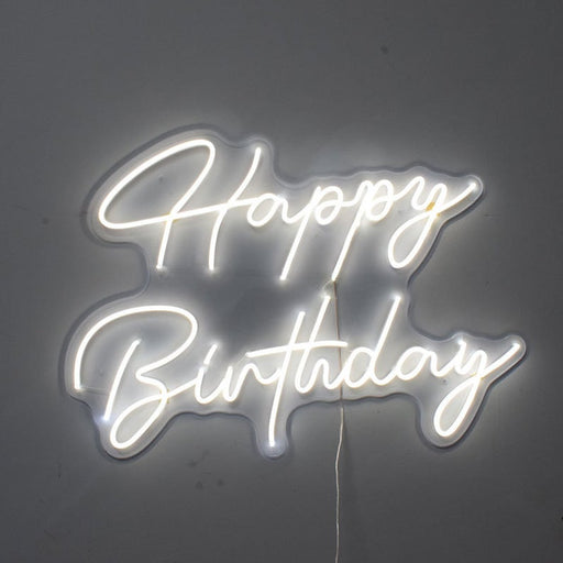 30in x 22in Happy Birthday Neon Sign Flex Led Custom Cool Light 12V Home Room Decoration Ins