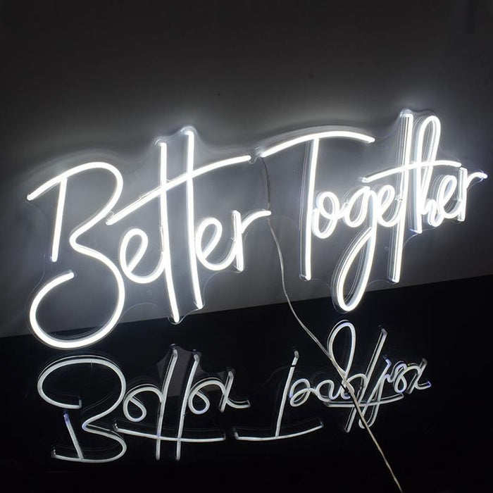 28in x 11in Better Together Neon Sign Acrylic Flex Led Custom Cool Light 12V Home Room Decoration Ins