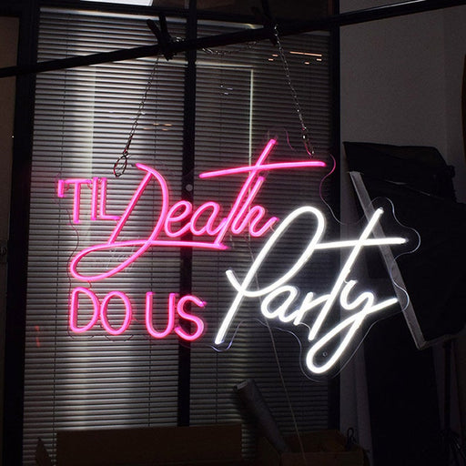 29in x 17in Til Death DO US Party Neon Sign Flex Led Neon Light Custom Led Neon Sign Home Room Decoration Ins Party Wedding