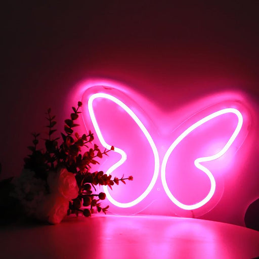 Butterfly Neon Light, Custom Neon Light, Neon Light Butterfly, Neon Light sign, LED Neon flex sign, Instagram Neon Decor, Girls Room Decor