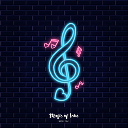 Music Love LED Neon Sign