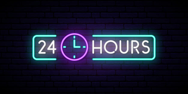 Business Hour  Neon Sign