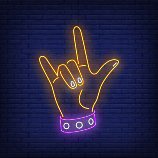 Rock Music Neon Sign