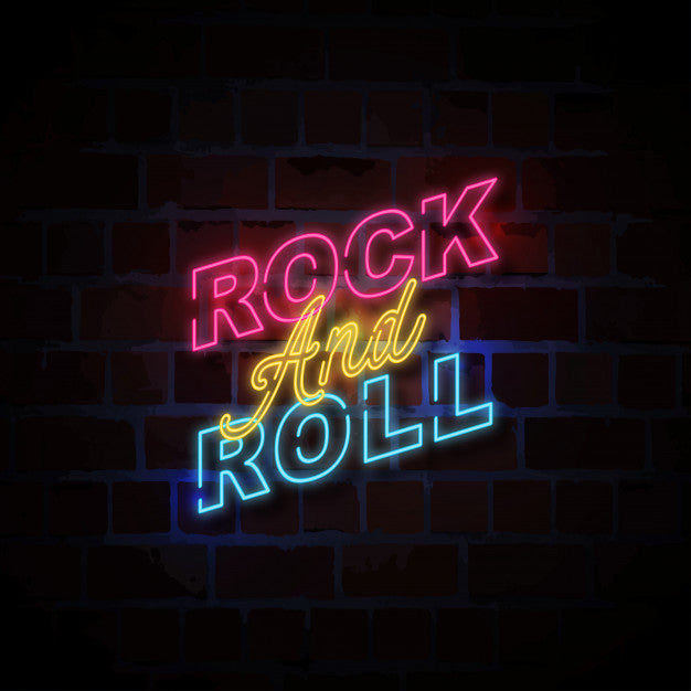 Rock and roll neon sign lights