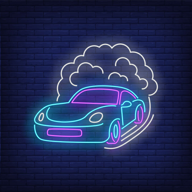 Sport Car Increasing Speed LED Neon Sign