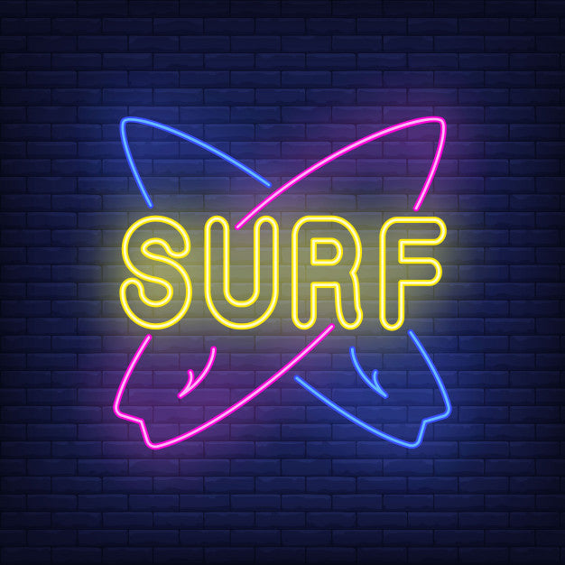 Surfing Neon Sign