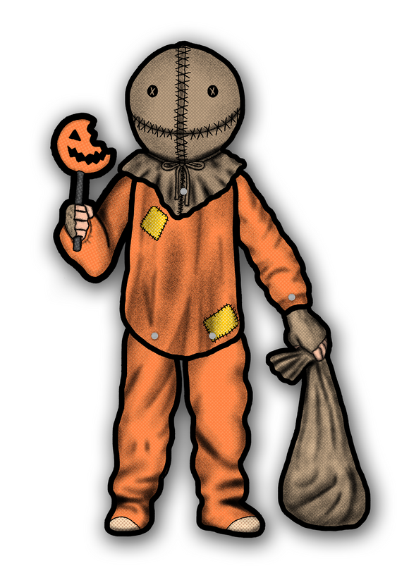 Retro Inspired Halloween Sam Trick r Treat Jointed Cutout Decoration