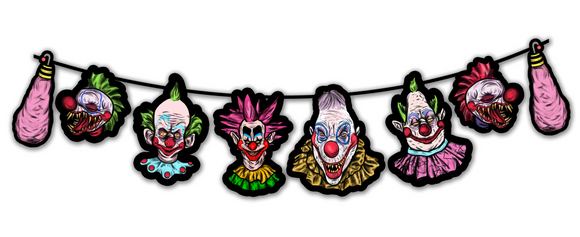 Killer Klowns from Outer Space Horror Character Cutout Banner