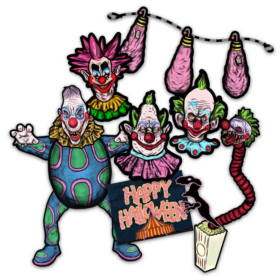 Killer Klowns from Outer Space Retro Inspired Decorama Decoration Collector's Set