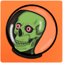 Load image into Gallery viewer, Skeleton Astronaut Vinyl Outer Space Sticker