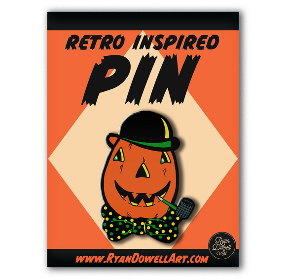 Illuminated Halloween Collection Jack of Lantern Lapel Pin