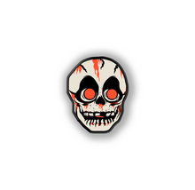 Load image into Gallery viewer, Retro Inspired Creature Halloween Mask Pin Skull Lapel Pin