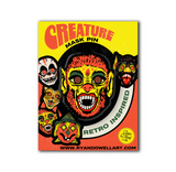 Deluxe Retro Inspired Creature Halloween Mask Pin Werewolf Lapel Pin