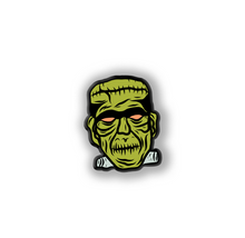Load image into Gallery viewer, Deluxe Retro Inspired Monster Halloween Mask Pin Frankenstein